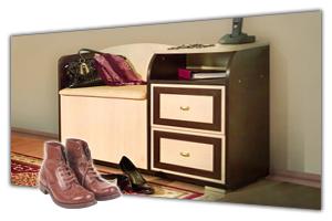 Тумбы для обуви в интернет-магазине в СПб. У нас можно недорого купить тумбочку в прихожую. Тумбы под обувь в прихожую с сиденьем и с ящиками, каталог - цены, фото, прайс лист. Продажа и заказ в Санкт Петербурге. Стоимость мебели. Мебельная Симфония.