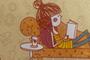Кресло Лира обивка ткань Girl Life 02