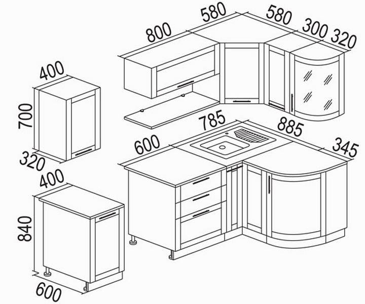 кухонные модули стандартные размеры чертежи фото общаются жителями
